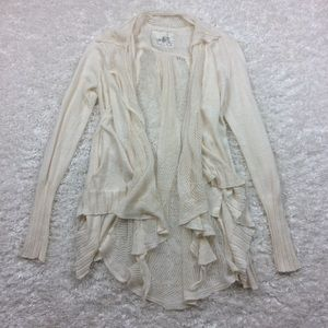 Anthro Angel of the North Cream Lace Cardigan